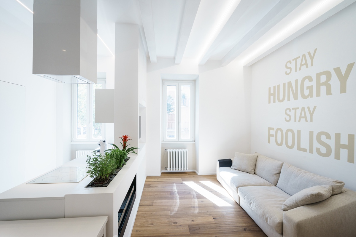 Light And Bright Living Room Small Apartment   4 Small Apartment Interiors  Embracing Character Themes