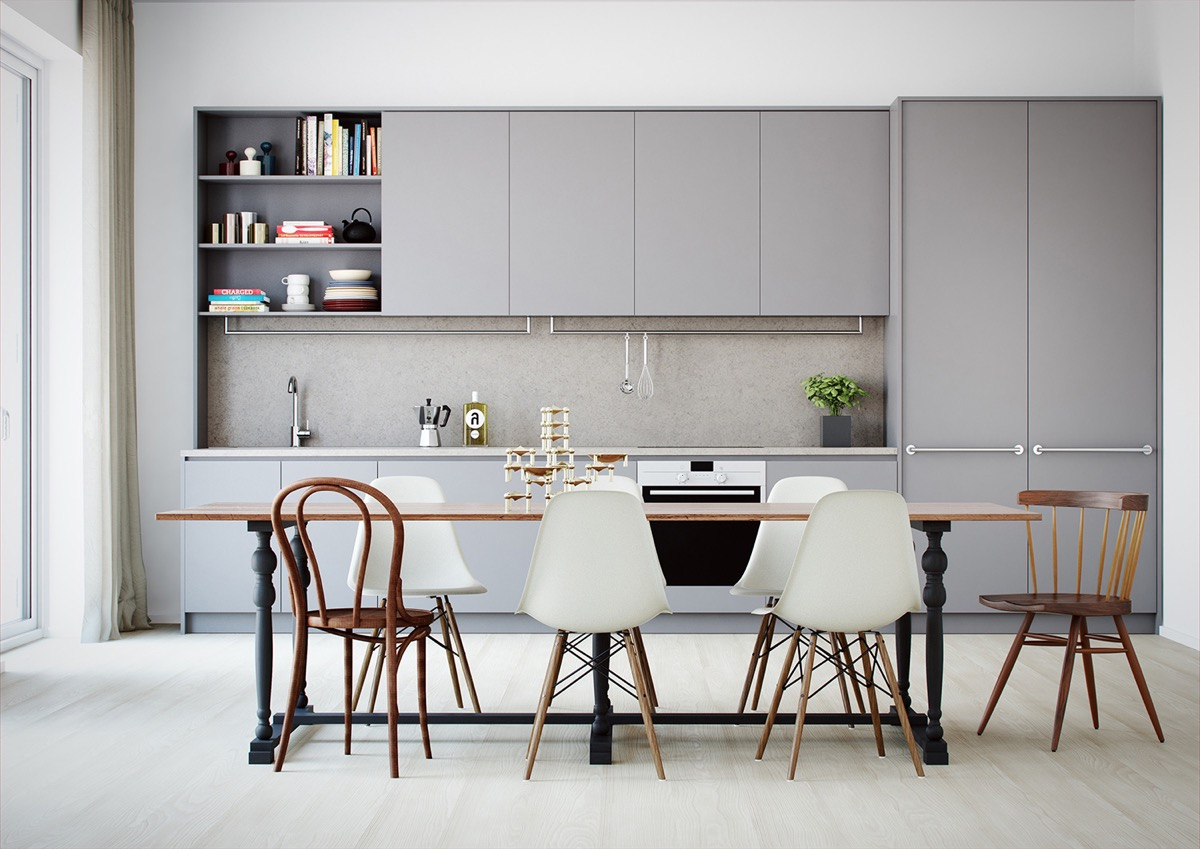 Gorgeous Grey Kitchens - Light grey kitchen designs