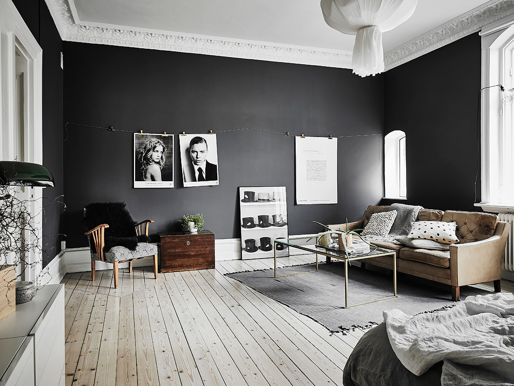 Interior Design Scandinavian black & white scandinavian interiors that explore the dark side