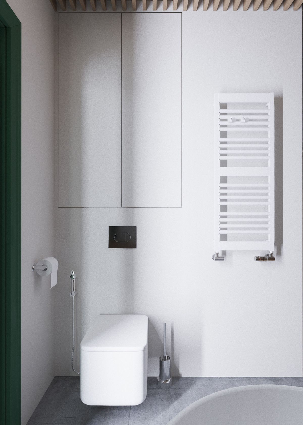 Minimalist Bathroom - A beautiful one bedroom bachelor apartment under 100 square meters with floor plan