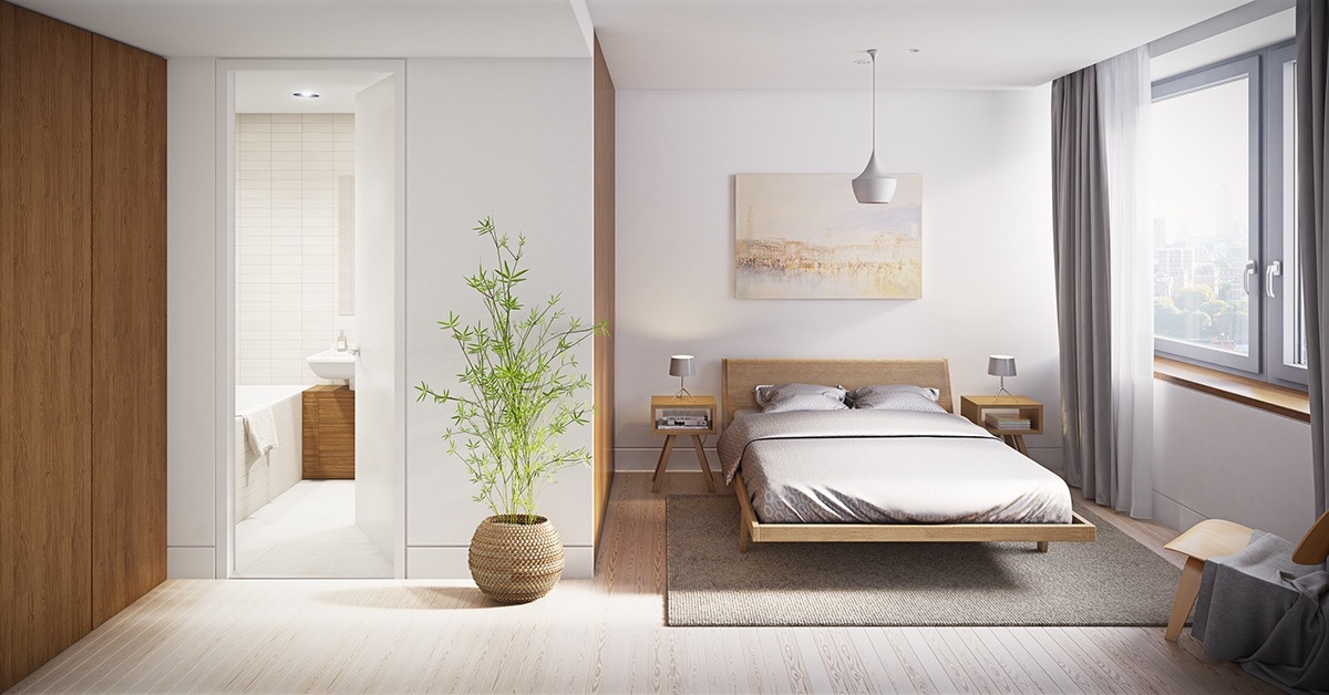 40 serenely minimalist bedrooms to help you embrace simple for Minimalist style bedroom