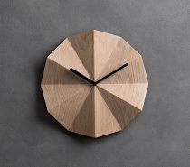Modern Danish Wall Clock : Can't pick your favourite wooden shade? Take three at a time with this Danish-style clock for the kitchen.