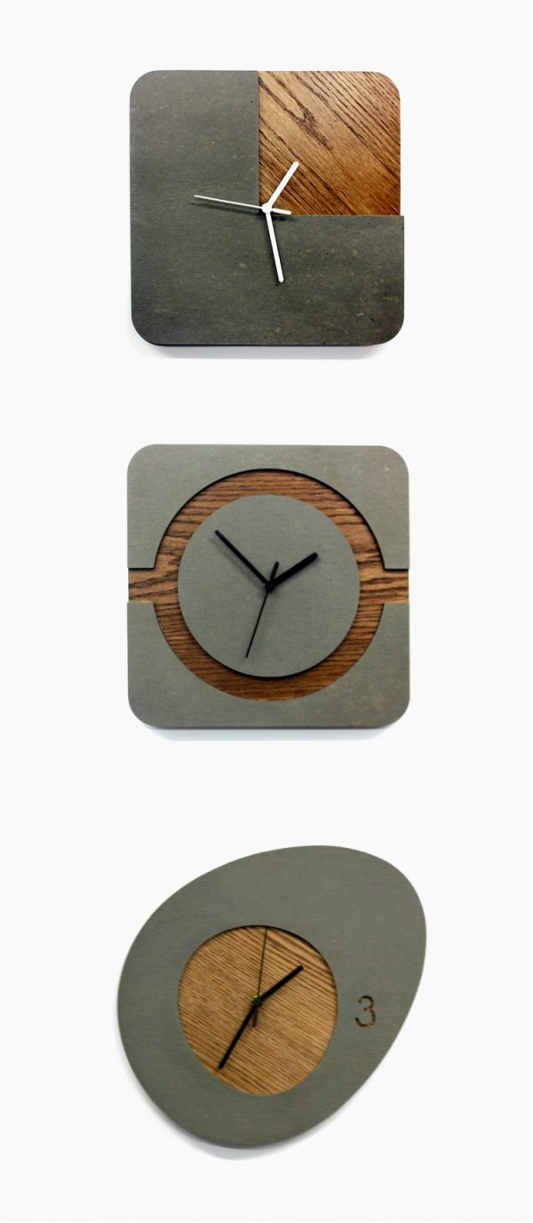 34 wooden wall clocks to warm up your interior buy it wooden concrete clocks amipublicfo Gallery