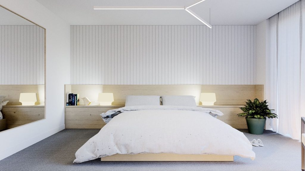 40 Serenely Minimalist Bedrooms To Help You Embrace Simple Comforts Awesome Lights In The Bedroom Concept Property