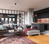 open layout home with classic decor
