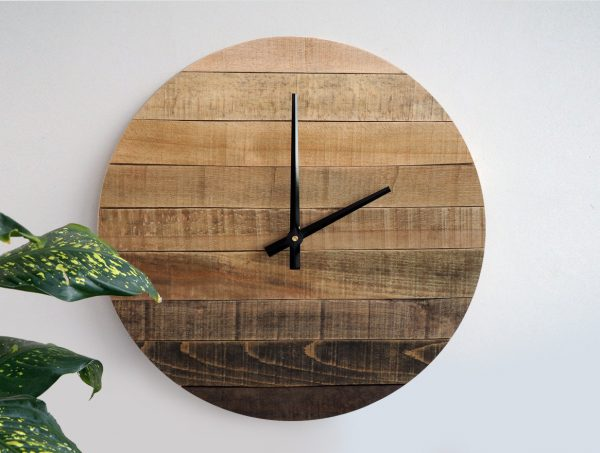 34 Wooden Wall Clocks To Warm Up Your Interior