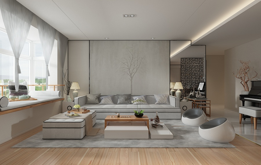 A Beautiful 2 Bedroom Modern Chinese House With Zen Elements Includes 3D Floor Plan