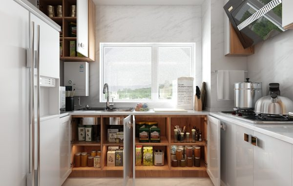 A beautiful 2 bedroom modern chinese house with zen for Best kitchen cabinet arrangement