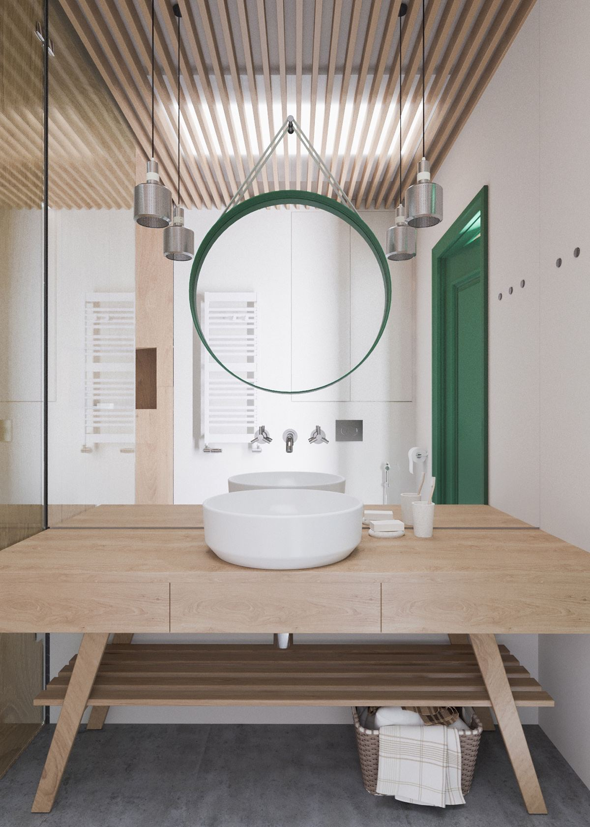 Unique Mirror Inspiration For Bachelor Bathroom - A beautiful one bedroom bachelor apartment under 100 square meters with floor plan