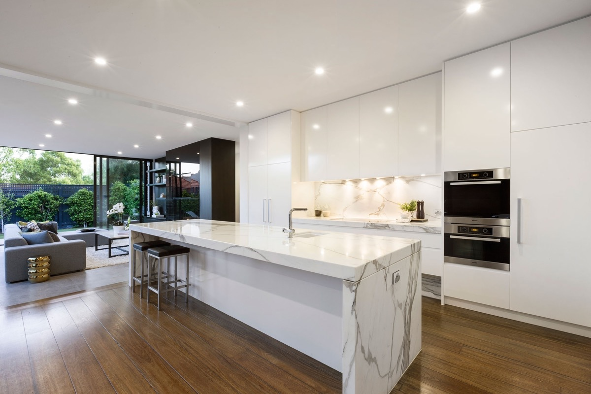 White Marble Kitchen Floor 36 Marvellous Marble Kitchens That Spell Luxury