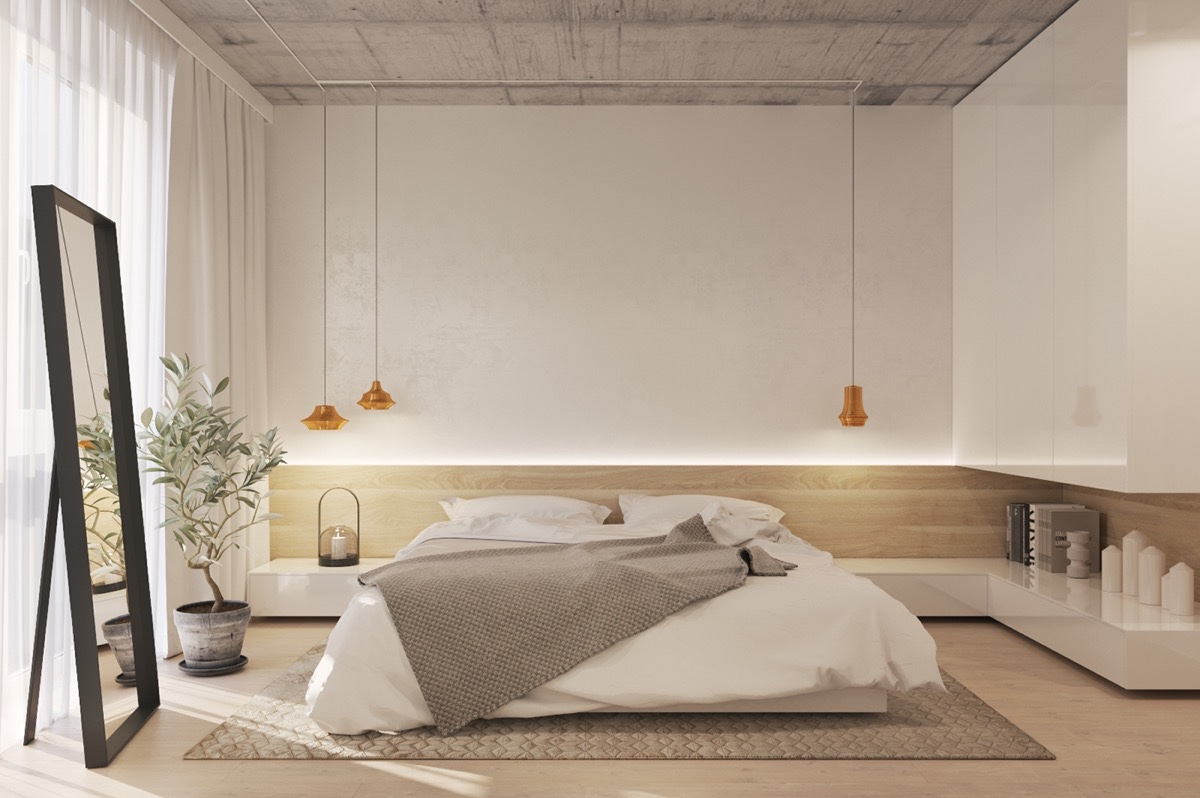20. 40 Serenely Minimalist Bedrooms To Help You Embrace Simple Comforts