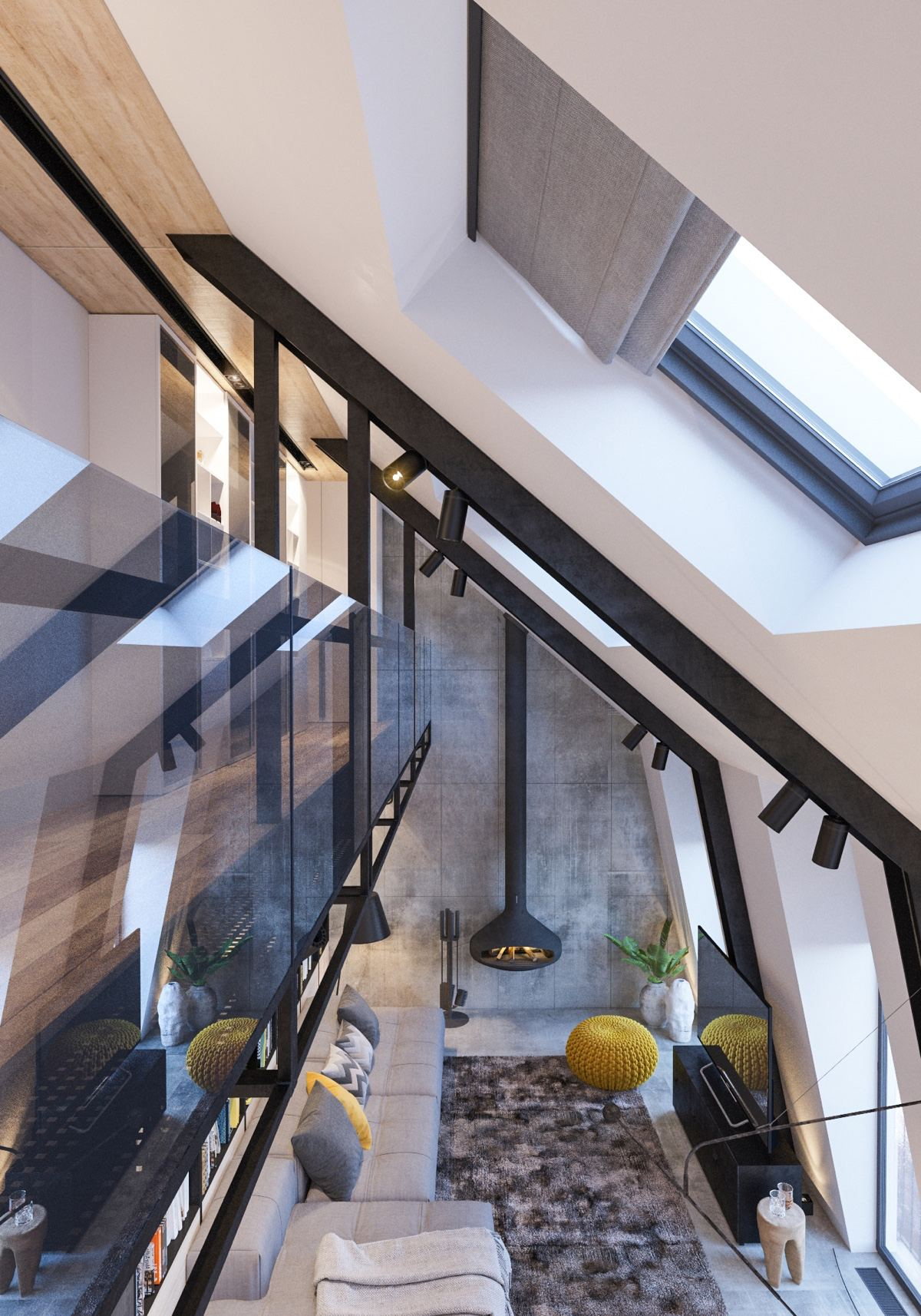 Attic conversion creates a warm contemporary home with floor plans - Houses with attic and balconies ...