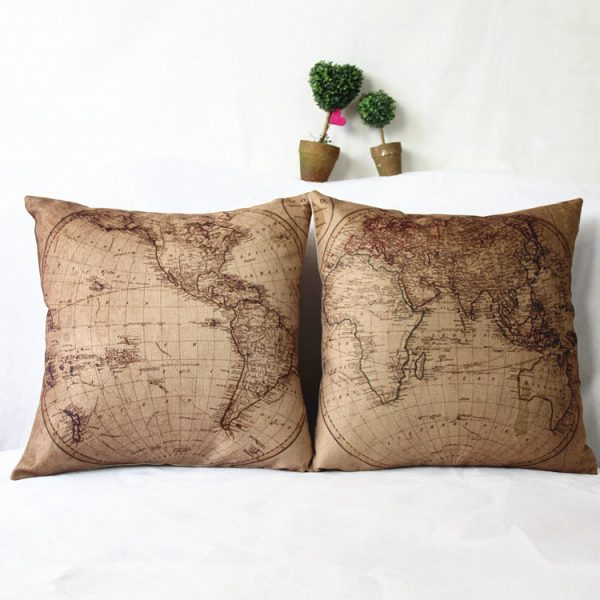 Decorative Pillows Travel Theme : 50 Travel-Themed Home Decor Accessories To Affirm Your Wanderlust
