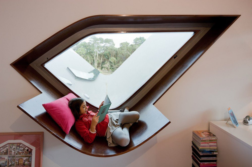 Architectural Dark Wood Window Reading Nooks - 50 best reading nooks we have ever come across
