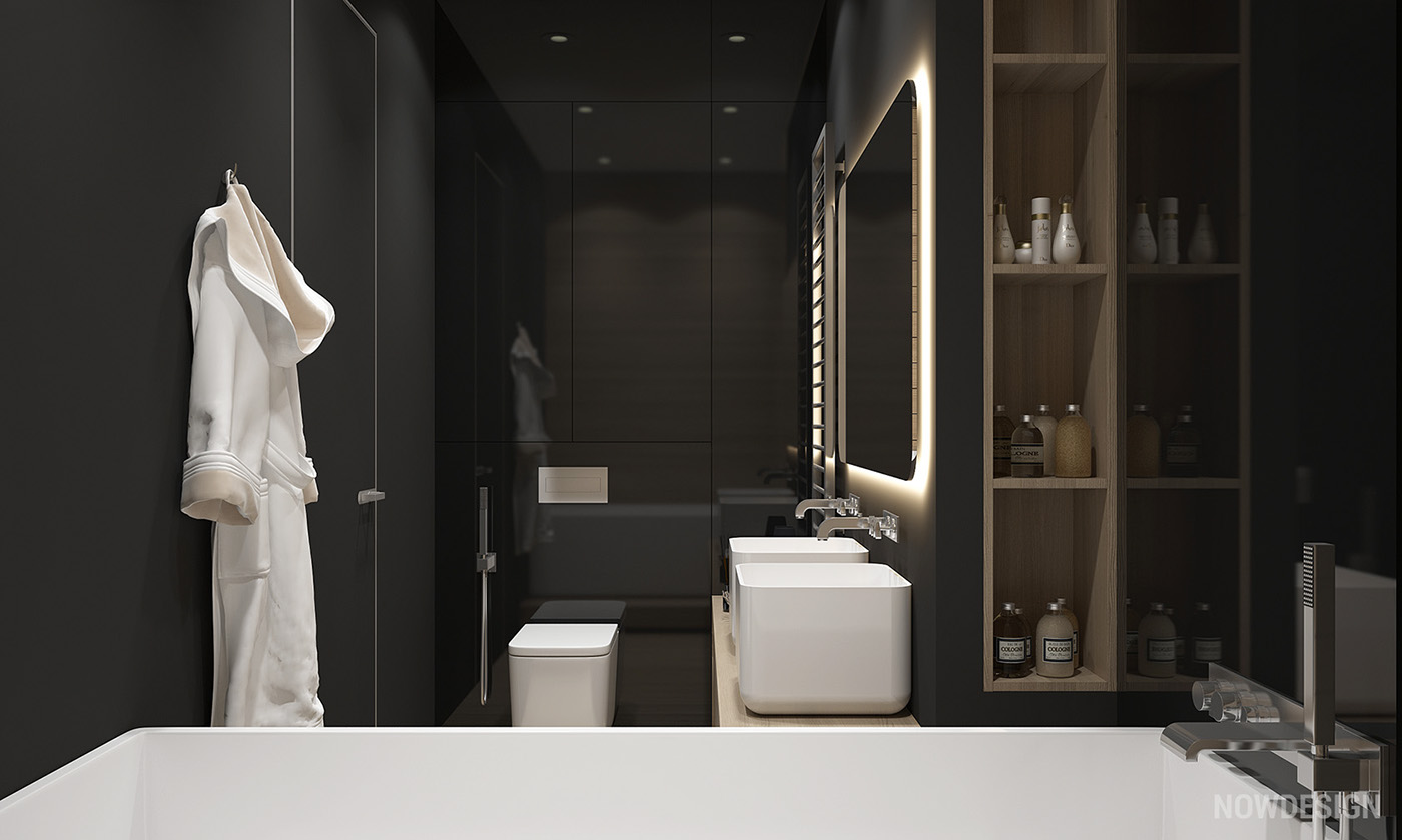 Bathroom With Matte Black Walls - 4 gorgeous homes with matte black walls