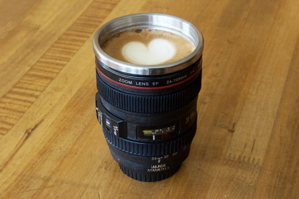 Home decor gifts for photography lovers for Photo lens coffee cup