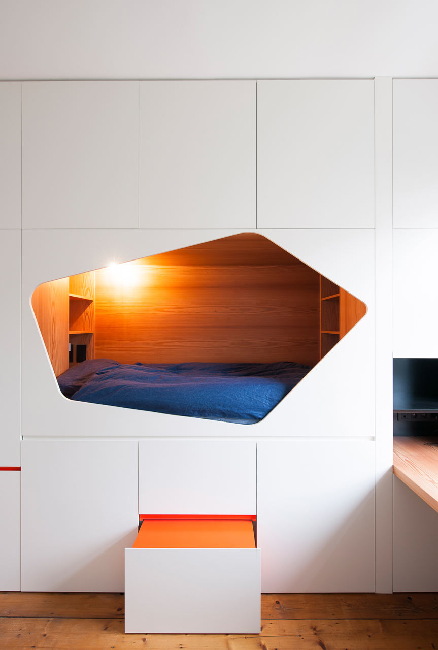 Diamond Shaped Built In Nook - 50 best reading nooks we have ever come across