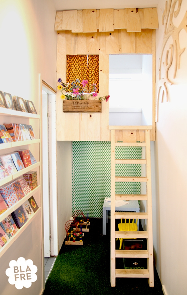 Laddered Indoor Treehouse Nook For Kids - 50 best reading nooks we have ever come across