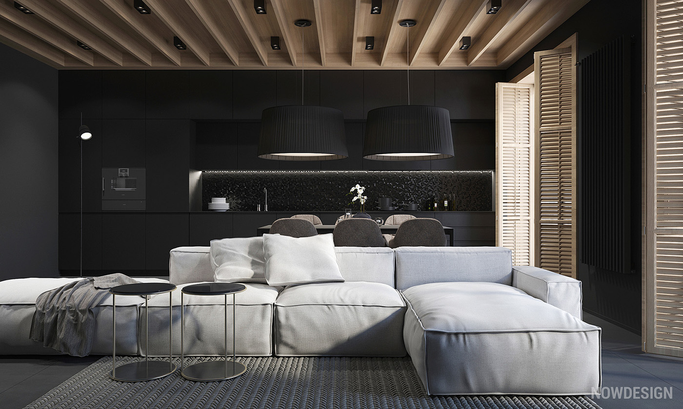 4 gorgeous homes with matte black walls for Black home design