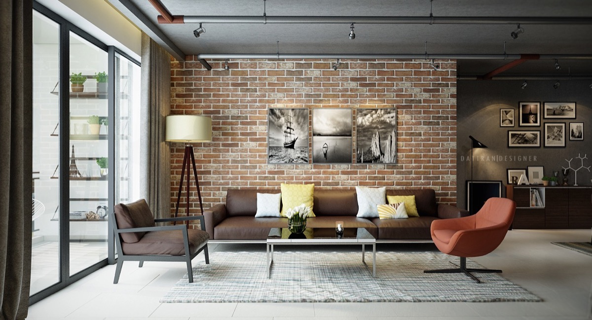living rooms with exposed brick walls the home designer co