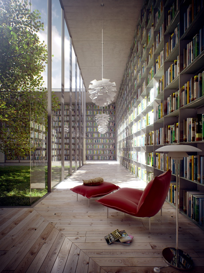 Outdoor Library Nook Corner - 50 best reading nooks we have ever come across