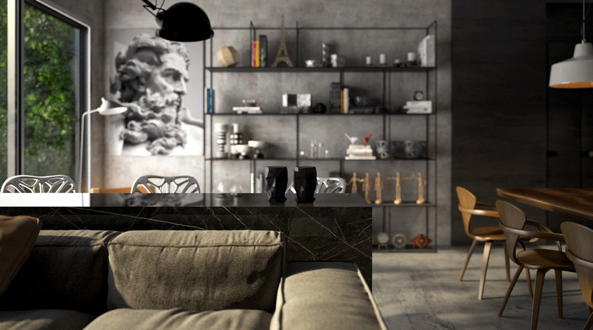 Sophisticated Luxury Interior With Black And Grey Accents - 4 gorgeous homes with matte black walls
