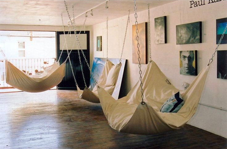 White Hammocks Nook Room - 50 best reading nooks we have ever come across