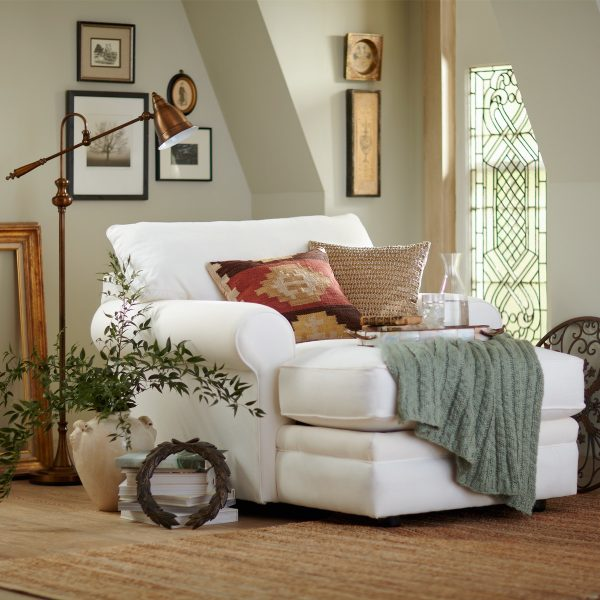 32 comfortable reading chairs to help you get lost in your for Big comfy chaise lounge