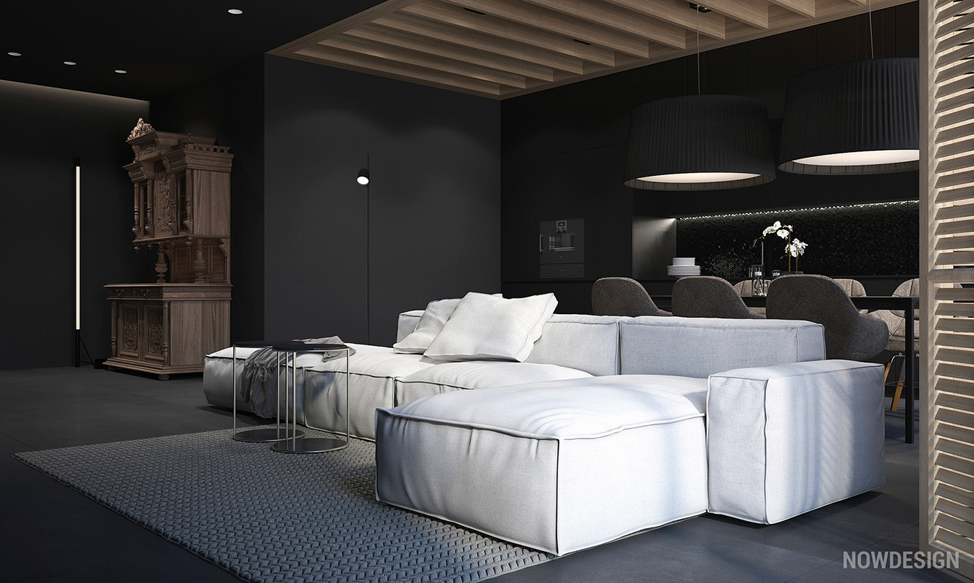 4 gorgeous homes with matte black walls Room with black walls
