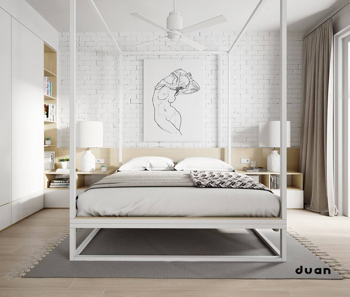 32 fabulous 4 poster beds that make an awesome bedroom for Bedroom designs with four poster beds