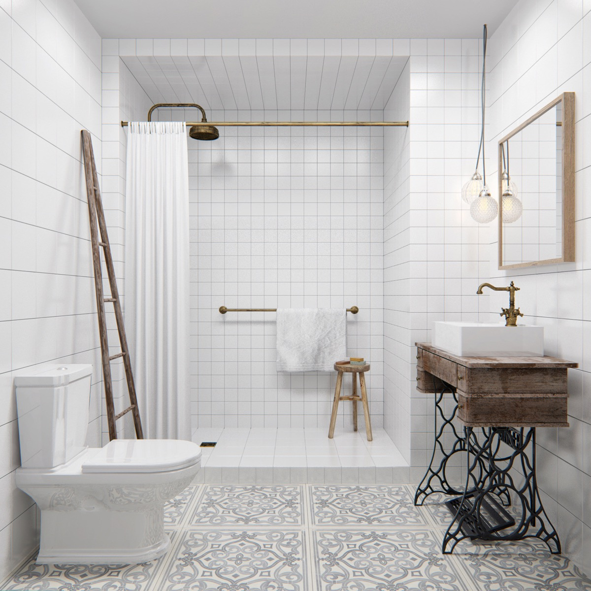 Apartment Bathroom Tiles Apartment: 3 Studio Apartments Under 50sqm For City-Dwelling Couples (Including Floor Plans