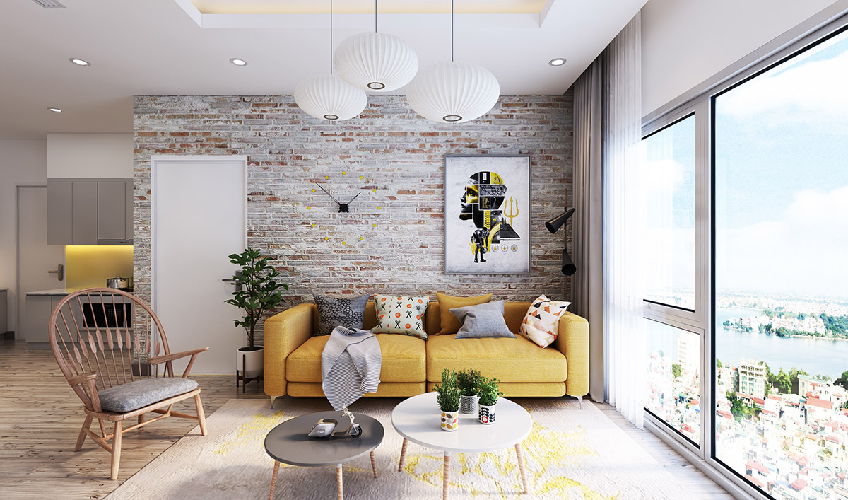 cool living rooms.  Living Rooms With Exposed Brick Walls