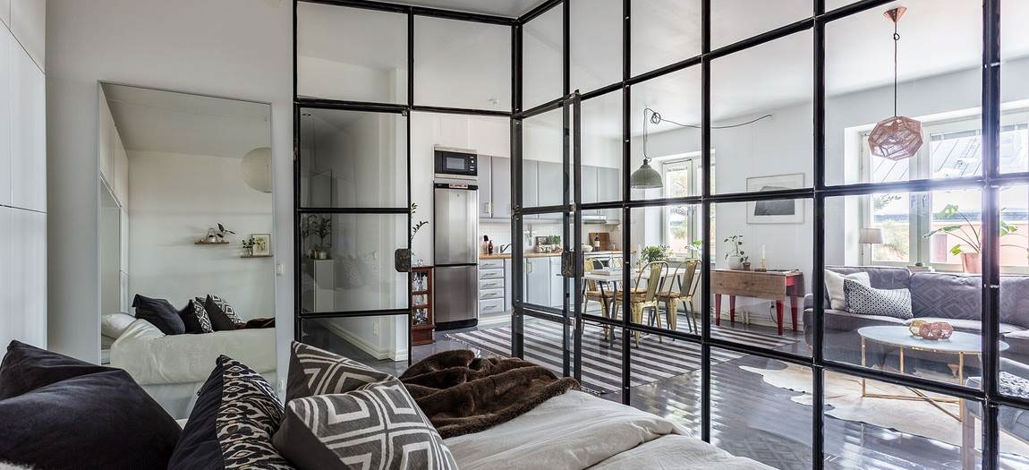 Japanese Square Windows Gray Bedroom - Grey and white interior design inspiration from scandinavia