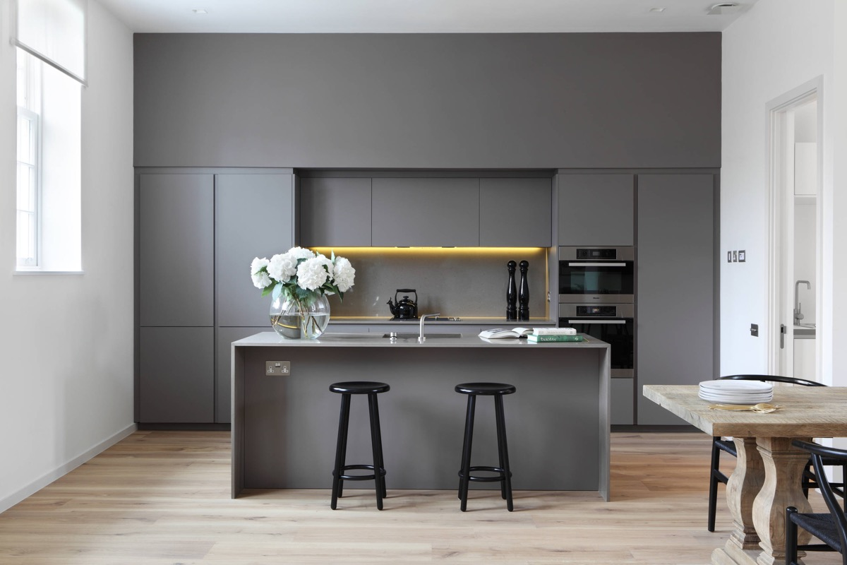Gorgeous Grey And White Kitchens That Get Their Mix Right - Medium grey kitchen cabinets