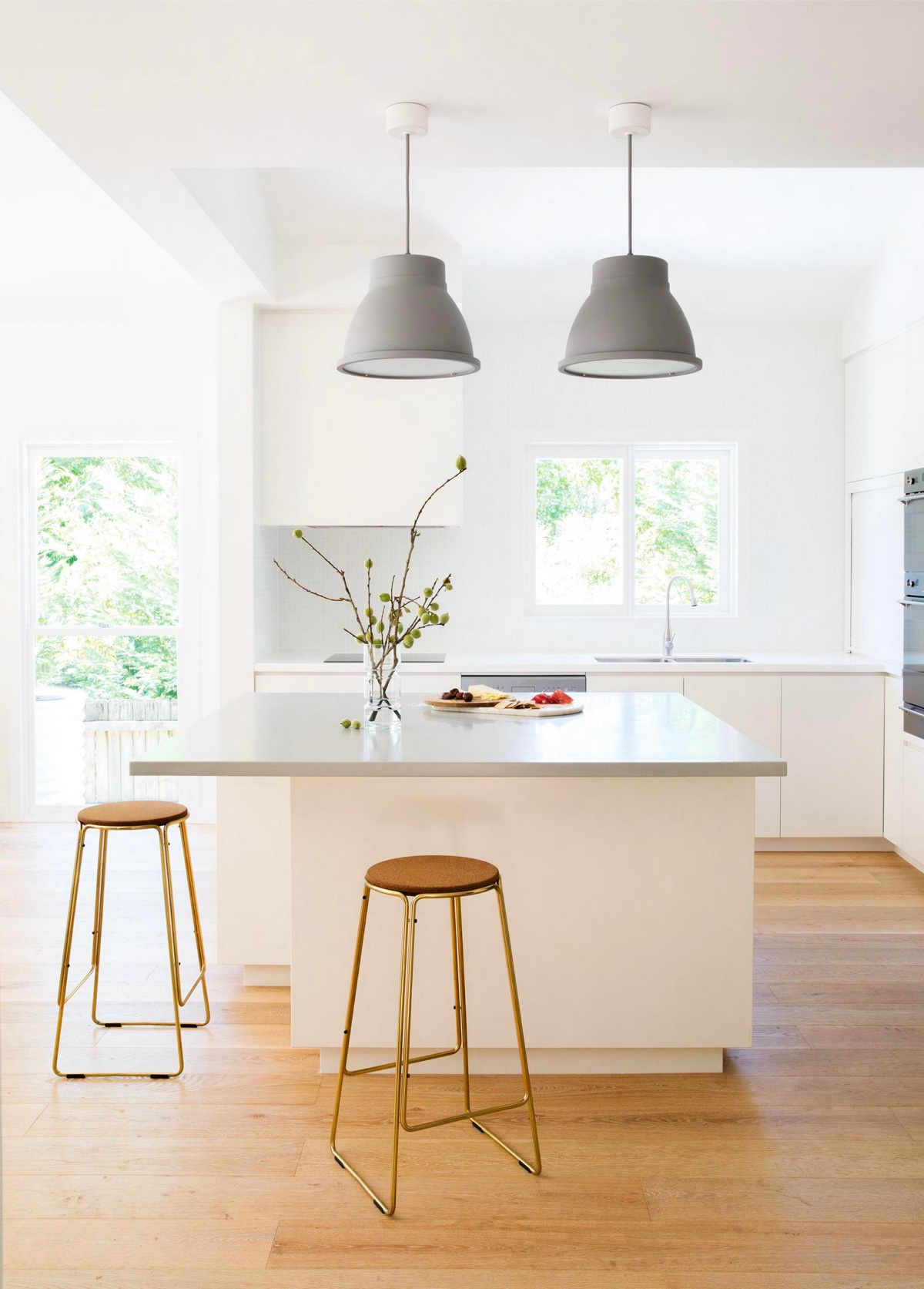White Kitchen Light Floors 30 gorgeous grey and white kitchens that get their mix right