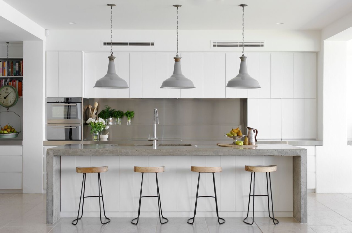 30 gorgeous grey and white kitchens that get their mix right - White Tile Floors In Kitchen