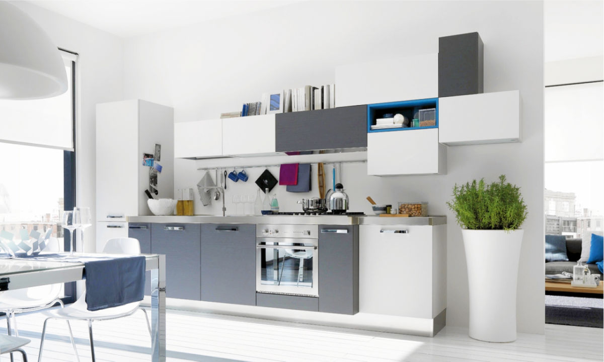 Gorgeous Grey And White Kitchens That Get Their Mix Right - Grey kitchen cabinets with white appliances