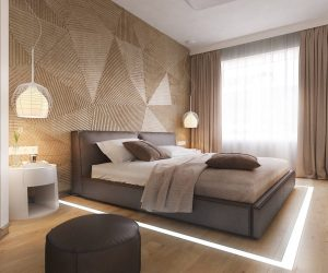 ... 25 Beautiful Examples Of Bedroom Accent Walls That Use Slats To Look  Awesome