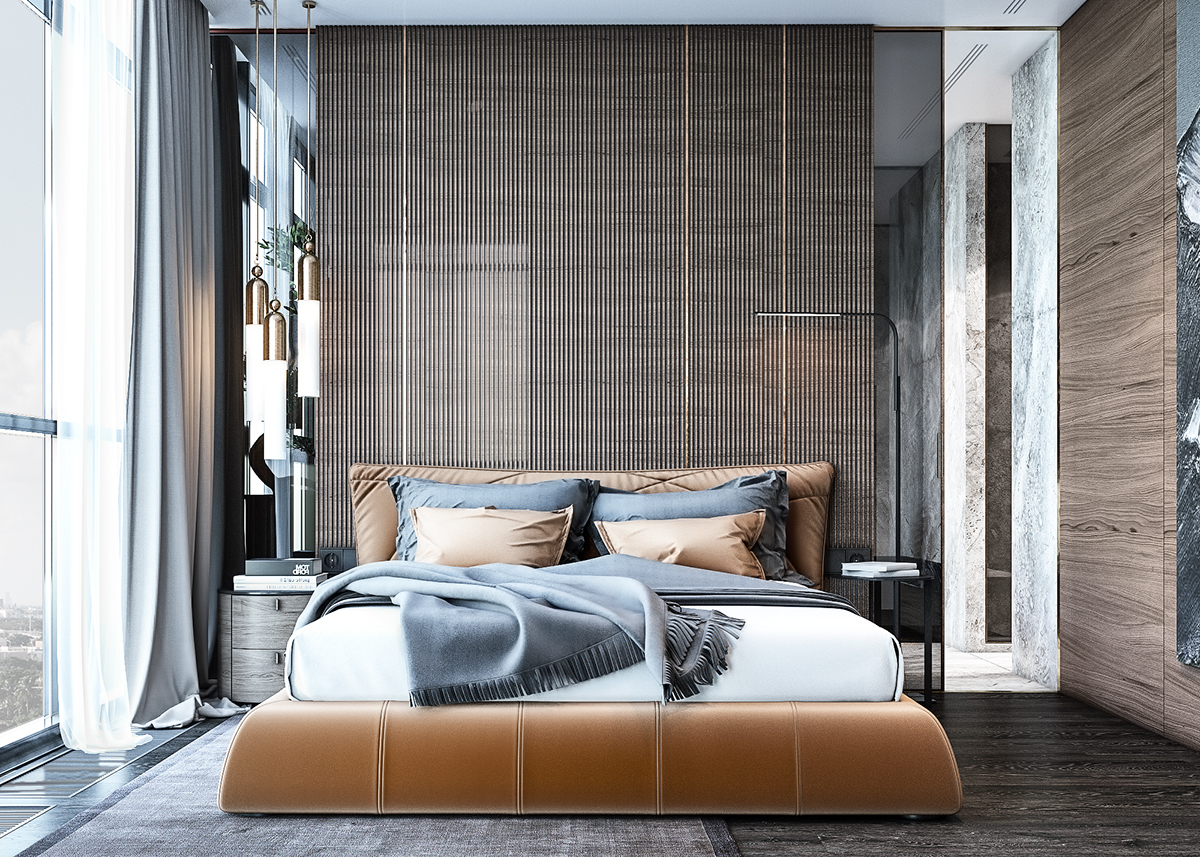 Bedroom Accent Wall Vertical Slats Color - 25 beautiful examples of bedroom accent walls that use slats to look awesome