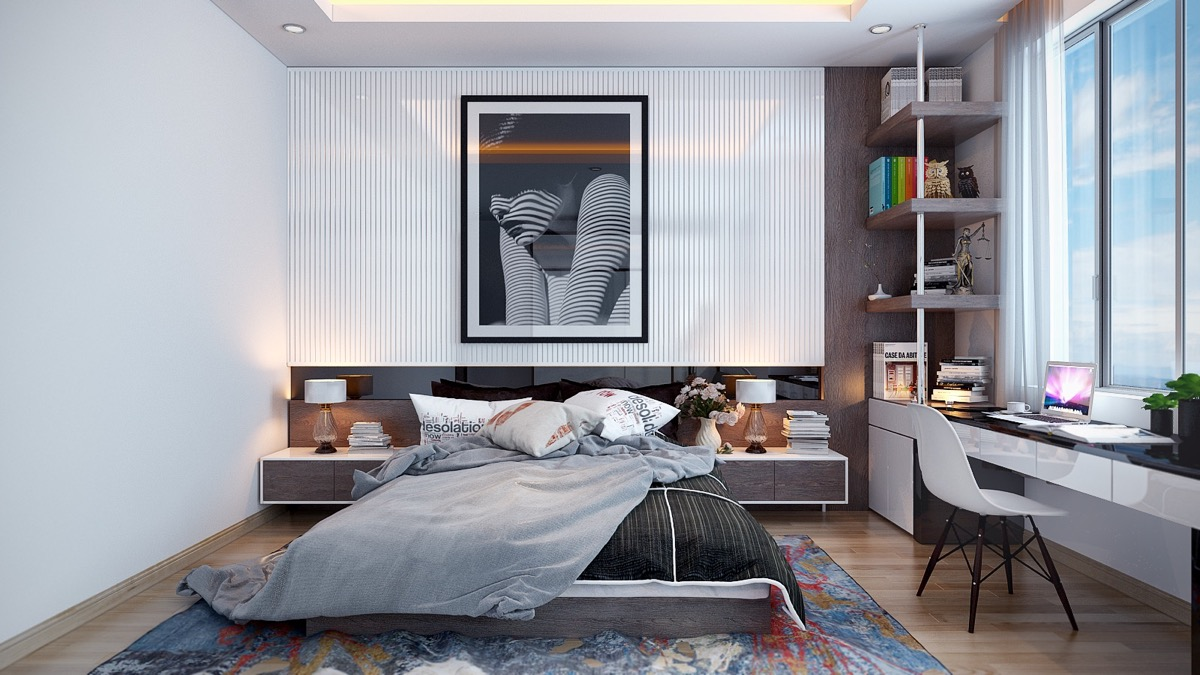 Bedroom Accent Walls Vertical Slats Framed Artwork - 25 beautiful examples of bedroom accent walls that use slats to look awesome