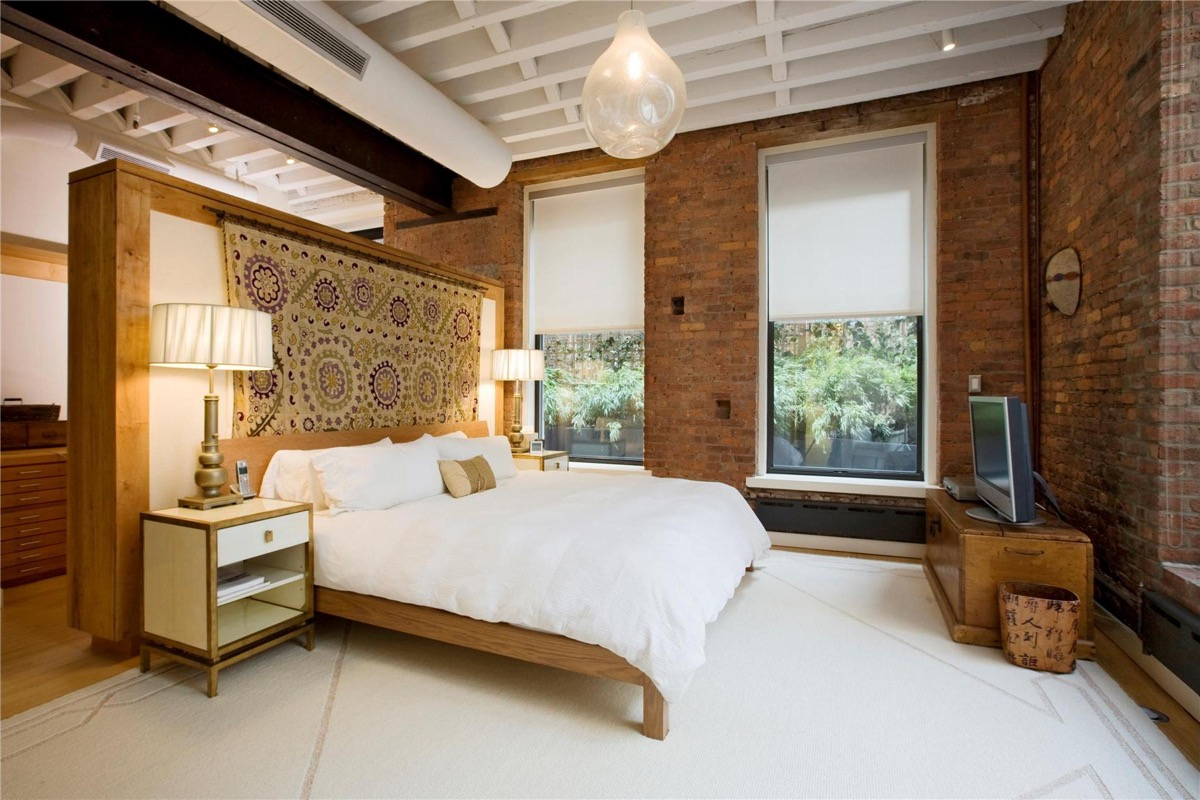 Bedroom Partition Exposed Brick - Bedrooms with exposed brick walls