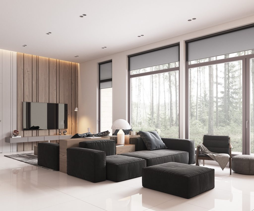 Minimalist interior design ideas for Minimal design living room