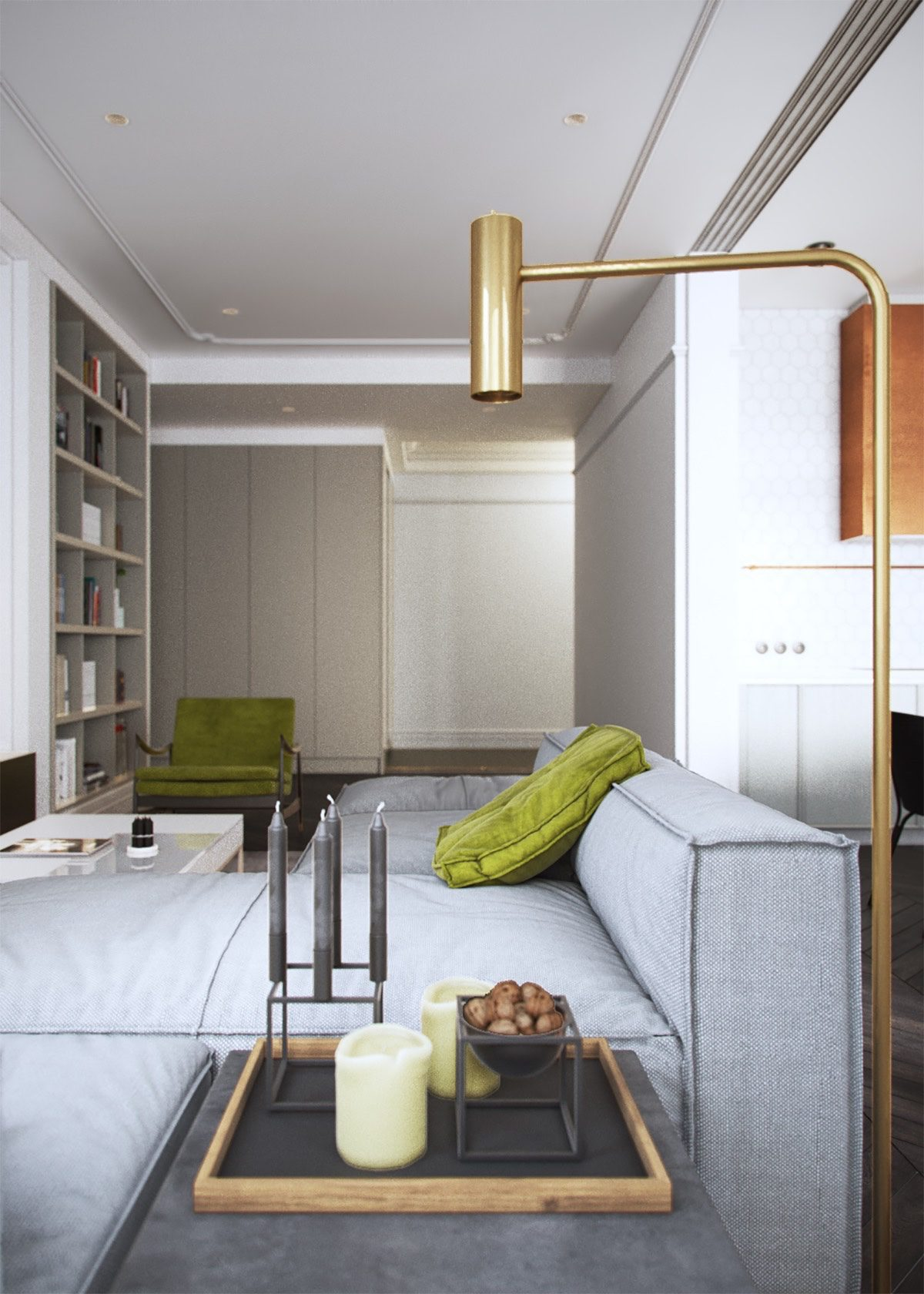 ... Light And Living By Light And Modern Sophistication In A Two Bedroom  Apartment ...
