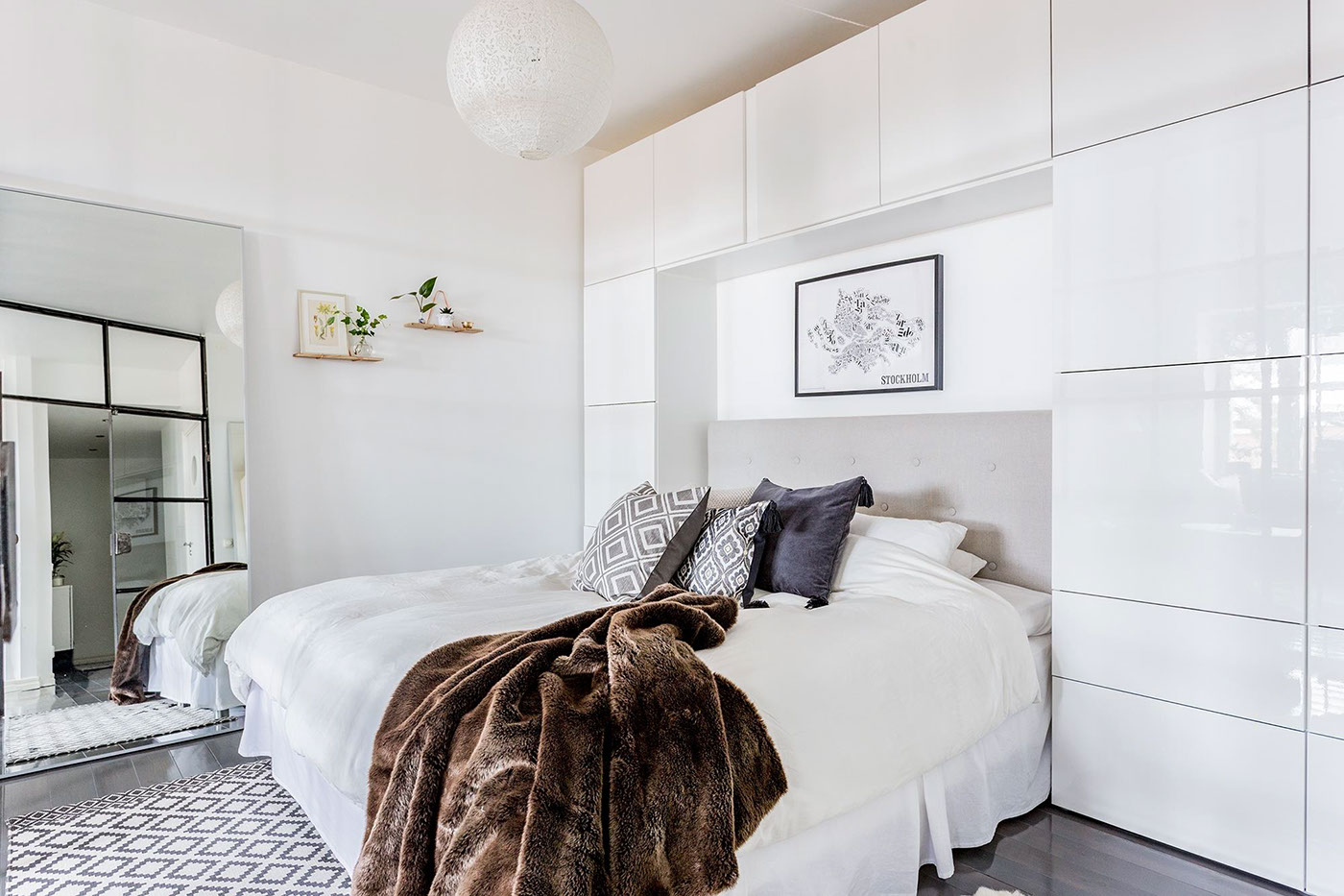 Brown Throw Grey Bedroom Furniture - Grey and white interior design inspiration from scandinavia