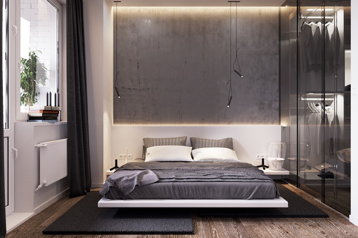 Stunning Concrete Wall Designs Striking Bedrooms That Use Concrete Finish Artfully