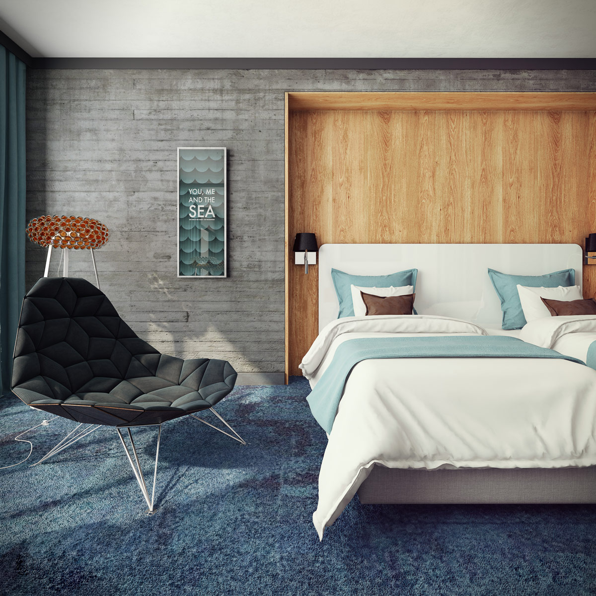 Concrete Wall Ideas : Concrete wall designs striking bedrooms that use