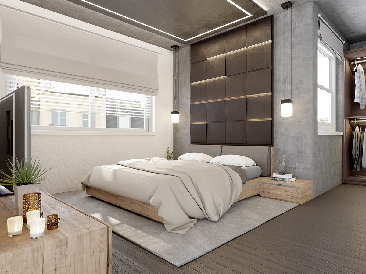 Ideal Concrete Wall Designs Striking Bedrooms That Use Concrete Finish Artfully