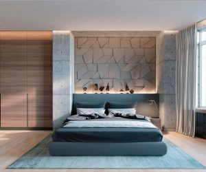 concrete wall designs 30 striking bedrooms that use concrete finish artfully - Bedroom Interior Designs