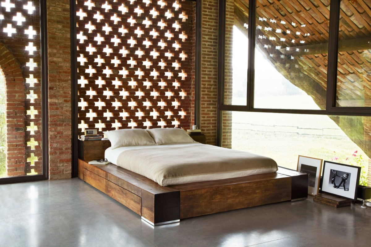 Filigree Inlet Exposed Brick Bedroom - Bedrooms with exposed brick walls