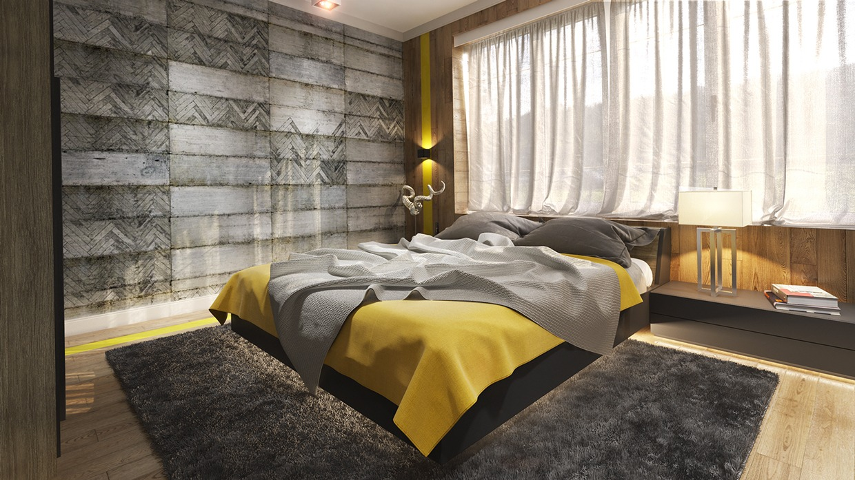 concrete wall designs 30 striking bedrooms that use concrete finish artfully - Concrete Walls Design